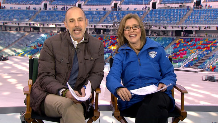 "Matt Lauer and Meredith Vieira will lead the broadcast of the Opening Ceremony in Sochi on Friday. Vieira spoke with the production designer for the spectacle, who called it ""truly mind-boggling."""