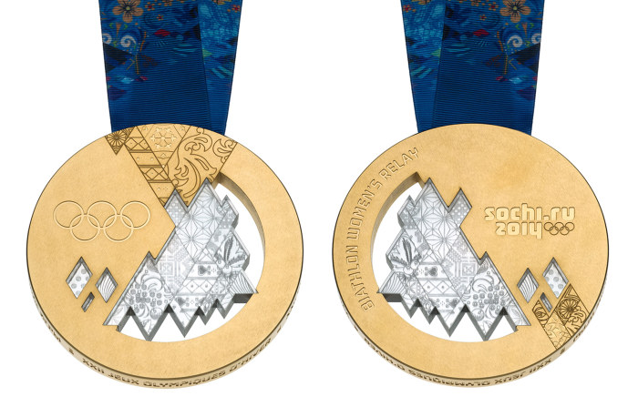 Gold medals for the Sochi 2014 Winter Olympics