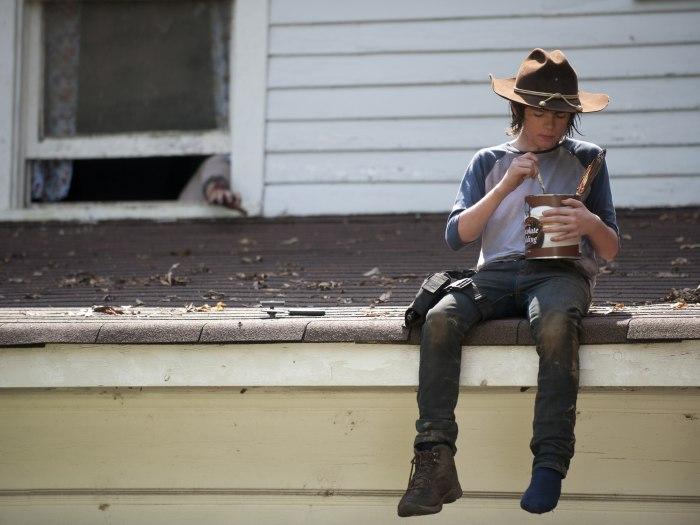 "Image: Carl on ""The Walking Dead"""
