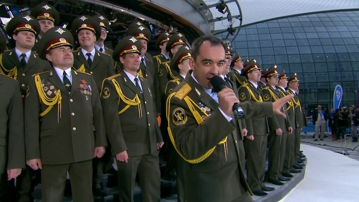 Russian Police Choir perform on TODAY.