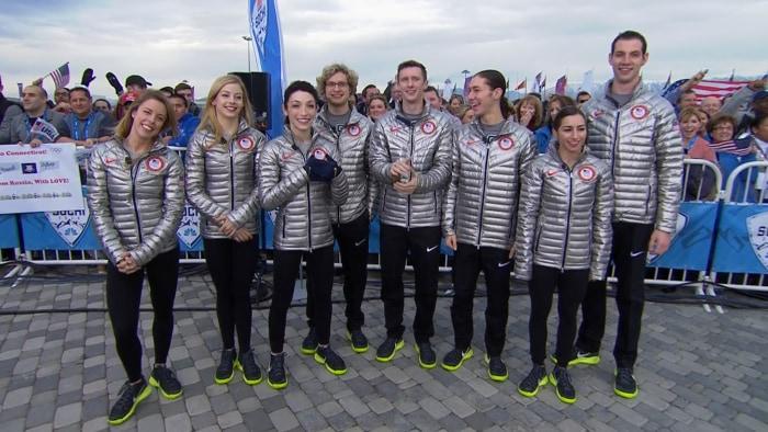 Members of the U.S. Olympic skating team