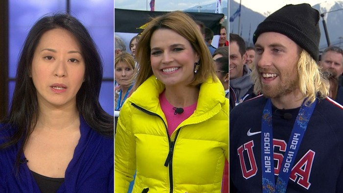 "Mother of ""distressed"" baby says Tim Armstrong apologized, Savannah anchors from Sochi and Sage Kotsenburg talks Olympic gold."