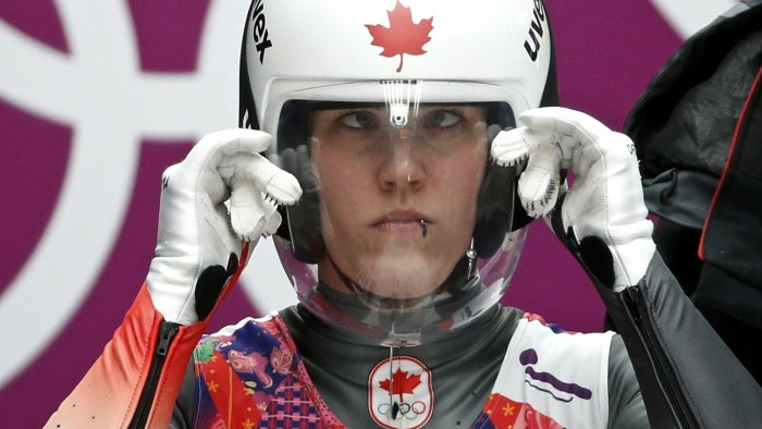Ridiculous faces made by Olympic lugers.