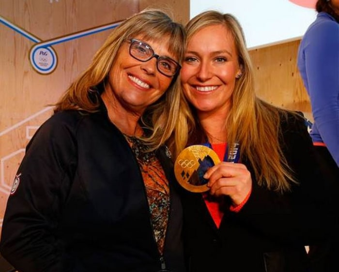 Jamie Anderson and her mom