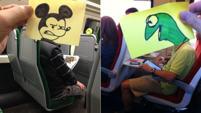 Cartoonist Joe Butcher killed time during his commute by doodling.