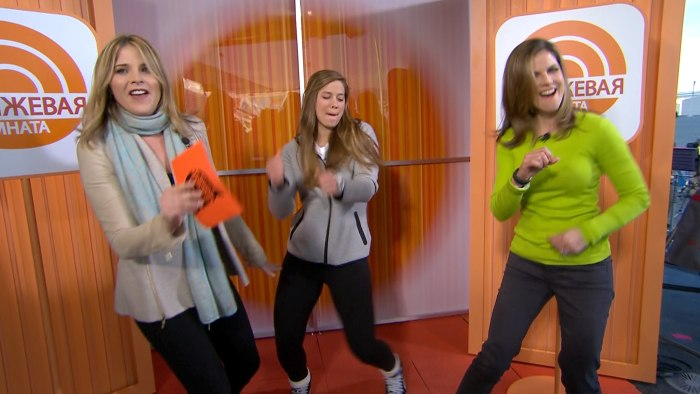 Dance party in the Sochi Orange Room.