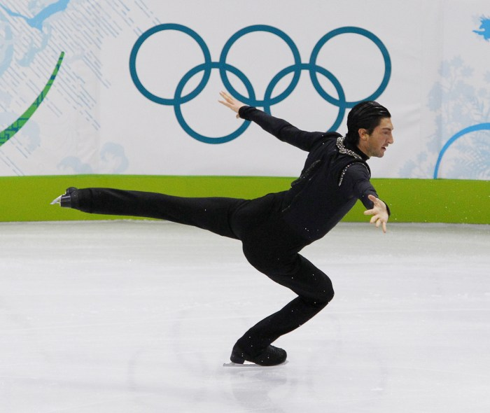 Evan Lysacek of the U.S. performs during the men's free skating figure skating competition at the Vancouver 2010 Winter Olympics February 18, 2010.   ...