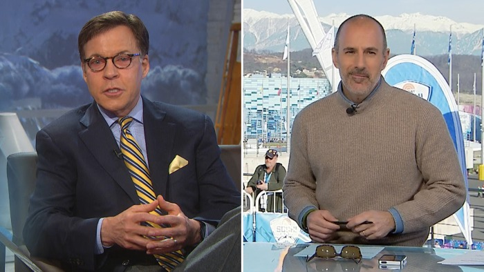 Bob Costas is once again handing over Olympic coverage to Matt Lauer Wednesday.