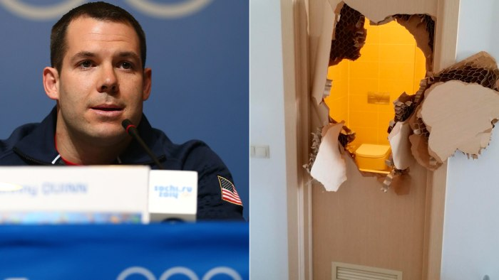 After demonstrating his prowess in smashing through locked doors, U.S. bobsledder Johnny Quinn has accepted an invitation from a Texas police department to do some SWAT training after Sochi.