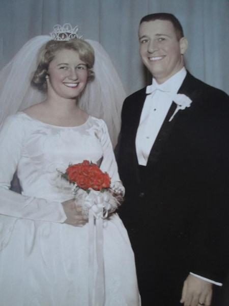 Beverly and Gene Bella on their wedding day.