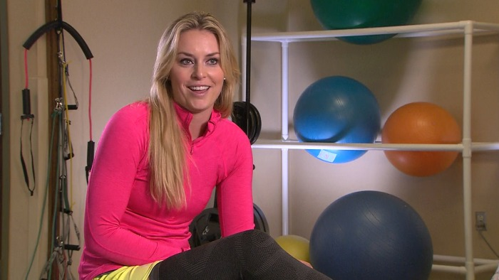 Lindsey Vonn in rehab for her injured knee