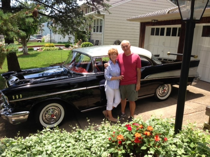 The Janviers still cruise in the car they took to their high school prom.