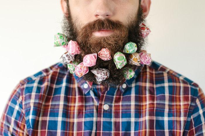 Amongst the items Pierce's beard can hold: Dum Dums Lollipops.