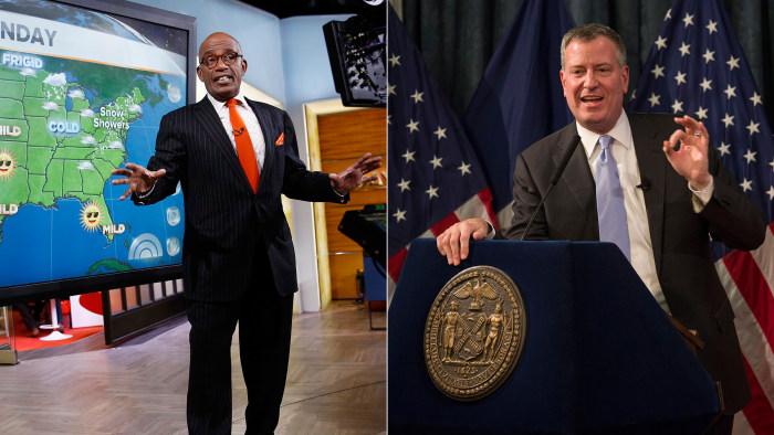 Al Roker; New York Mayor Bill de Blasio