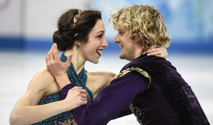 Meryl Davis, left, and Charlie White, of the United States