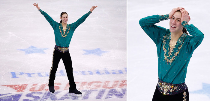 Jason Brown competes during the Sochi Olympics.