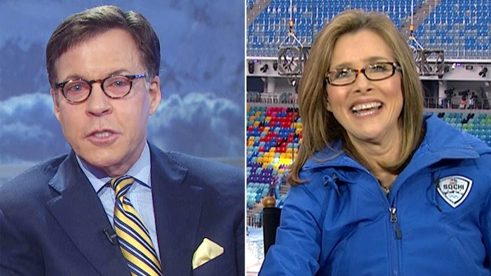 Meredith Vieira will become the first woman to host Olympics primetime coverage on her own when she fills on Friday night for the ailing Bob Costas, who is battling a continuing eye infection.