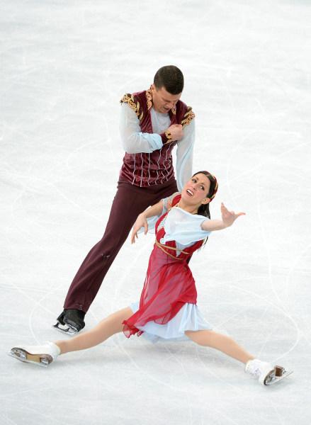Image: Italy's Charlene Guignard and Marco Fabbri