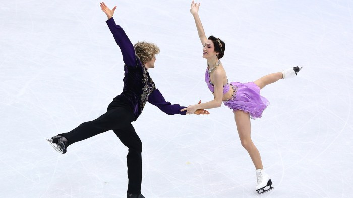 Meryl Davis and Charlie White of the United States compete in the Figure Skating Ice Dance Free Dance in Sochi.