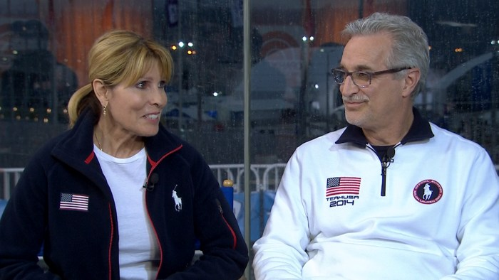 Meryl Davis' father and Charlie White's mother on TODAY.
