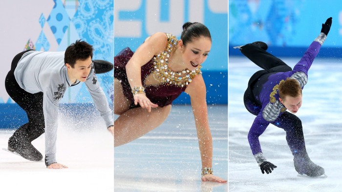 Patrick Chan of Canada, Kaetlyn Osmond of Canada and Alexander Majorov of Sweden all took falls during competition in Sochi.