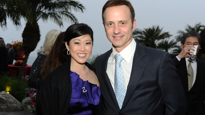 Old friends Kristi Yamaguchi and Brian Boitano in 2012. Yamaguchi says Boitano gave her some important advice after she won gold.