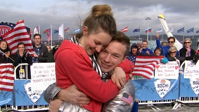 U.S. gold medalist David Wise and his wife