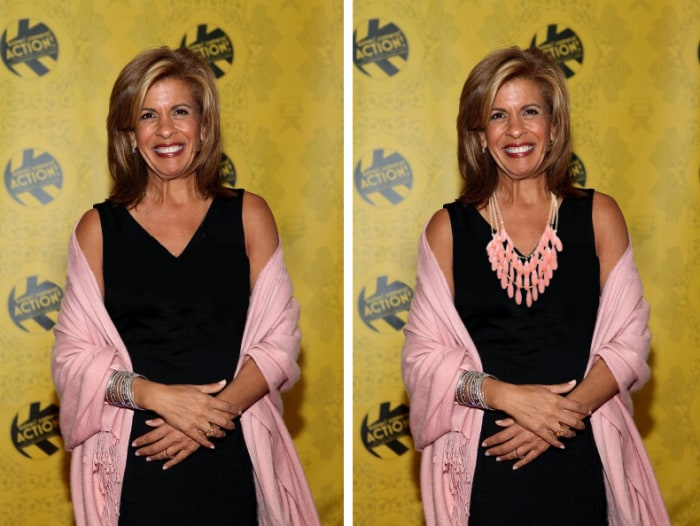 See how a necklace could have stepped up Hoda's outfit.