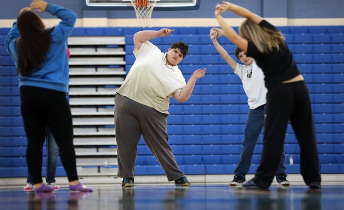 Eric Ekis, a freshman at Franklin High School in Franklin IN, started high school weighing in at around 500 lbs. Thanks to the help of teachers Don We...