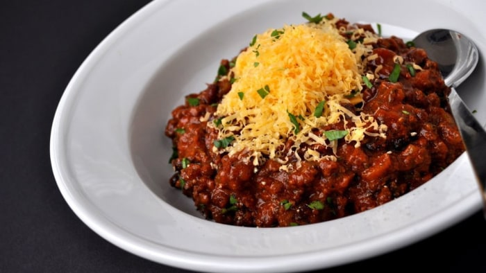 Boar and bison chili