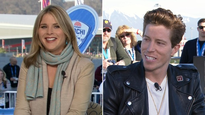Shaun White talked to Jenna Bush Hager on Tuesday, after losing his halfpipe competition.