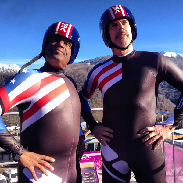 TODAY's Matt Lauer and Al Roker don their spandex outfits and hit the double luge in honor of the Winter Olympics.
