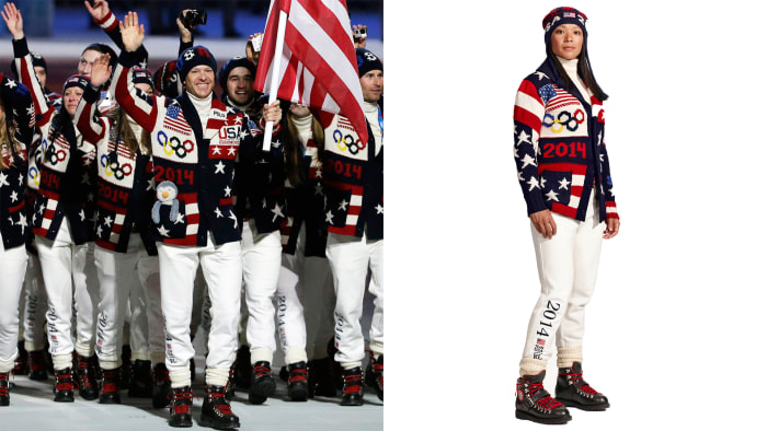 Todd Lodwick was the flag bearer at the Opening Ceremony; Julie Chu will do the honors at the Closing Ceremony.