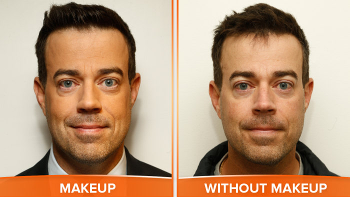 Carson Daly with and without makeup.