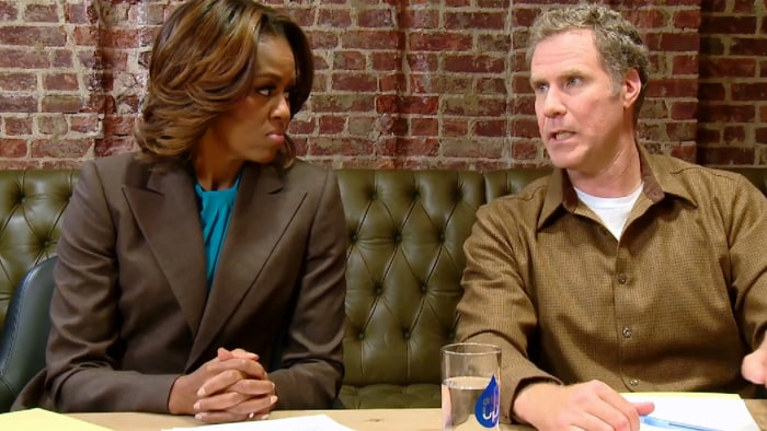 "Will Ferrell joins Michelle Obama in a new ""Let's Move!"" video to encourage children to make healthy lifestyle choices."