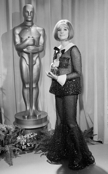 16 Apr 1969, Los Angeles, California, USA --- Barbra Streisand with the Oscar she won for Best Actress in Funny Girl. That same year (1969) Katharine ...