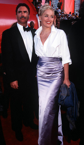 MONDAY 03/23/98  LOS ANGELES, CALIFORNIA 70th ANNUAL ACADEMY AWARDS AT THE SHRINE AUDITORIUM ARRIVALS: SHARON STONE AND HUSBAND PHOTO:  Evan Agostini/...