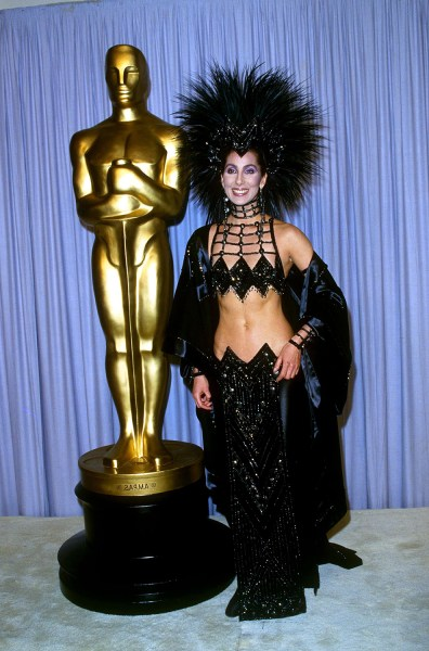 Cher at the 59th Annual Academy Awards.