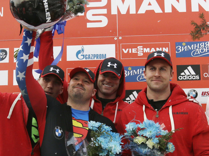 Steven Holcomb and his team are the gold medal favorites in the four-man bobsled event at the upcoming Winter Olympics in Sochi after winning gold at the 2010 Olympics in Vancouver.