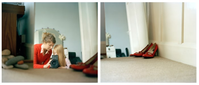 This photo of Laoisha and Emer is called Red Shoes, 2008.