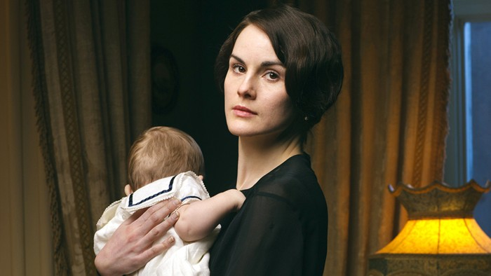 "This photo released by PBS and Carnival Film and Television Limited shows Michelle Dockery as Lady Mary in a scene from the Masterpiece TV series, ""Do..."