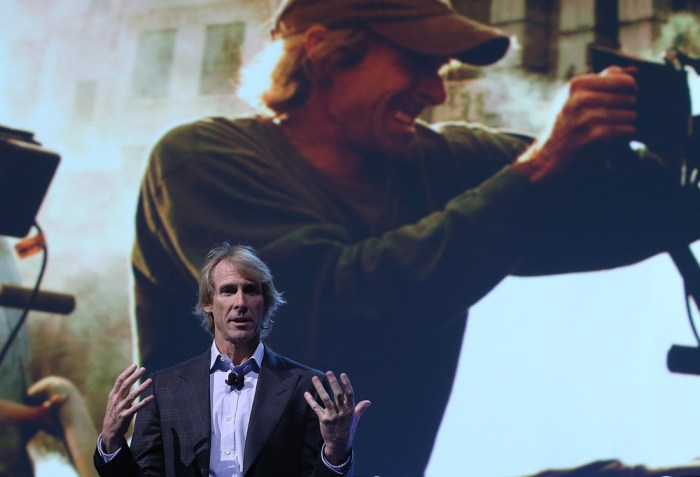 Image: Michael Bay at CES