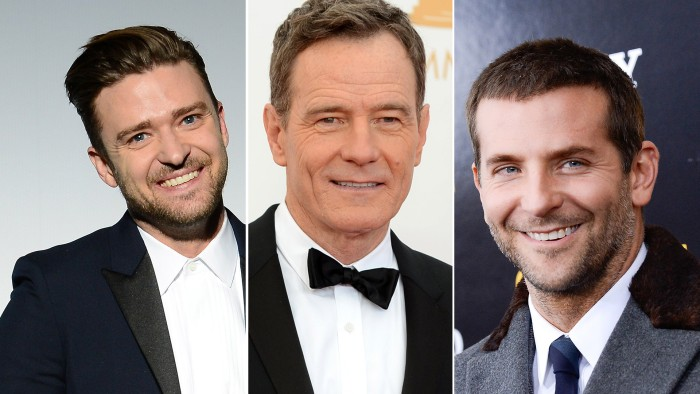 Justin Timberlake, Bryan Cranston and Bradley Cooper are nominated for Golden Globes on Sunday.