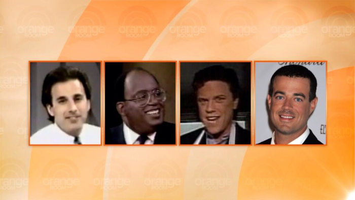 TODAY dudes Matt Lauer, Al Roker, Willie Geist and Carson Daly, all at age 32.
