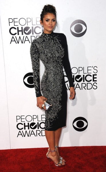 LOS ANGELES, CA - JANUARY 08:  Actress Nina Dobrev arrives for The 40th Annual People's Choice Awards - Arrivals held at Nokia Theatre L.A. Live on Ja...