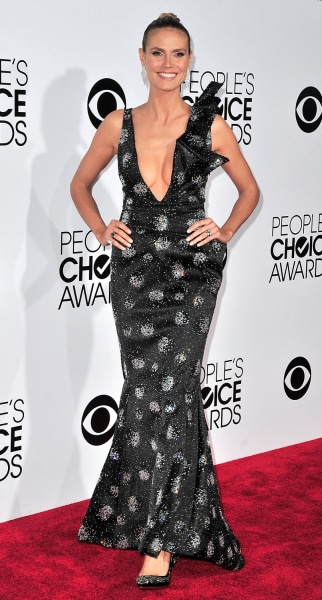 LOS ANGELES, CA - JANUARY 08:  Heidi Klum arrives at the 40th Annual People's Choice Awards at Nokia Theatre L.A. Live on January 8, 2014 in Los Angel...