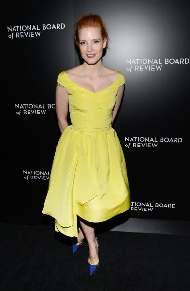 Actress Jessica Chastain attends the National Board of Review awards gala at Cipriani 42nd Street on Tuesday, Jan. 7, 2014, in New York. (Photo by Eva...