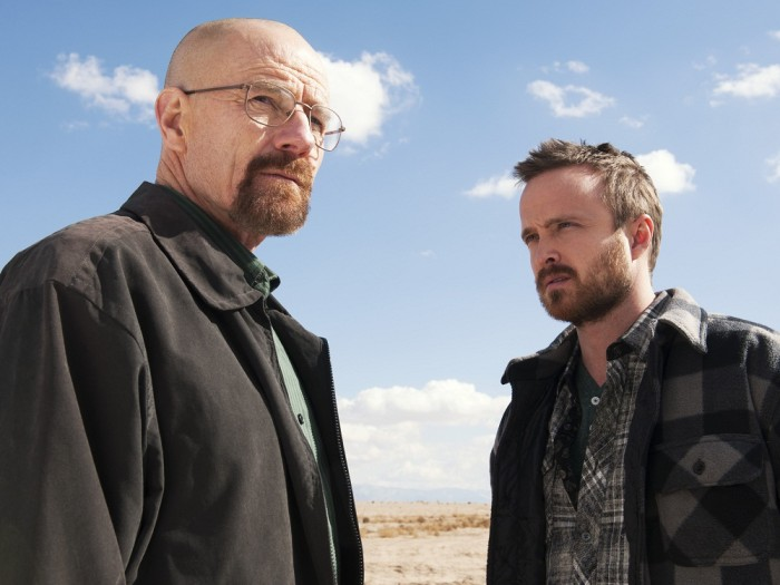 "Image: Walter White (Bryan Cranston) and Jesse Pinkman (Aaron Paul) on ""Breaking Bad."""