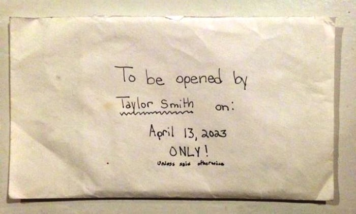 "The envelope was marked ""confidential,"" and for ""Taylor's eyes only."""