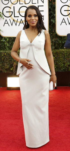 Actress Kerry Washington arrives at the 71st annual Golden Globe Awards in Beverly Hills, California January 12, 2014.   REUTERS/Mario Anzuoni (UNITED...